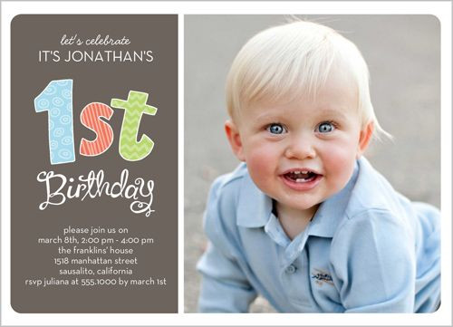 Best ideas about First Birthday Invitations Boy . Save or Pin Patterned First Boy Birthday Invitation Now.
