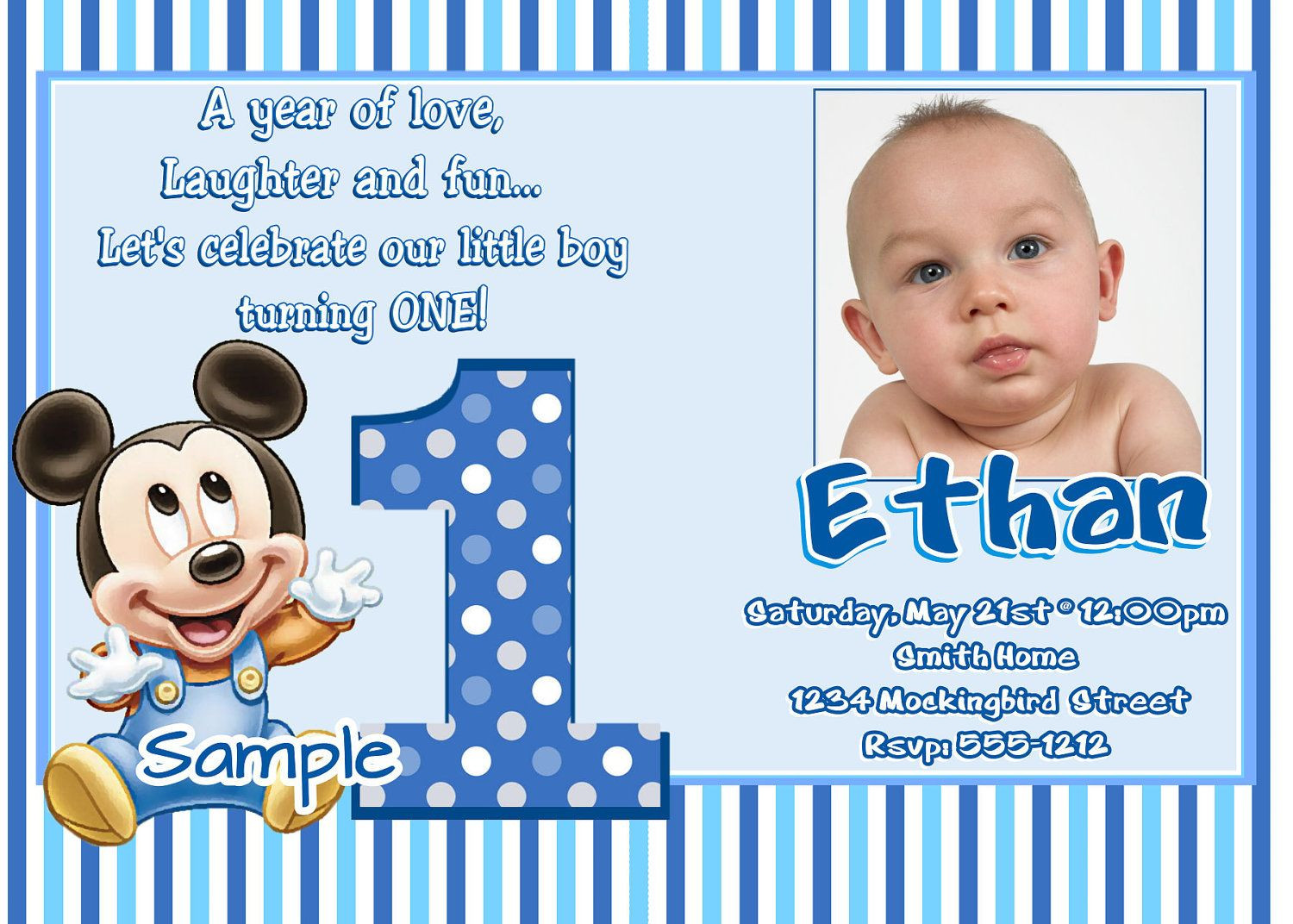 Best ideas about First Birthday Invitations Boy . Save or Pin Free 1st Birthday Invitation Maker Now.