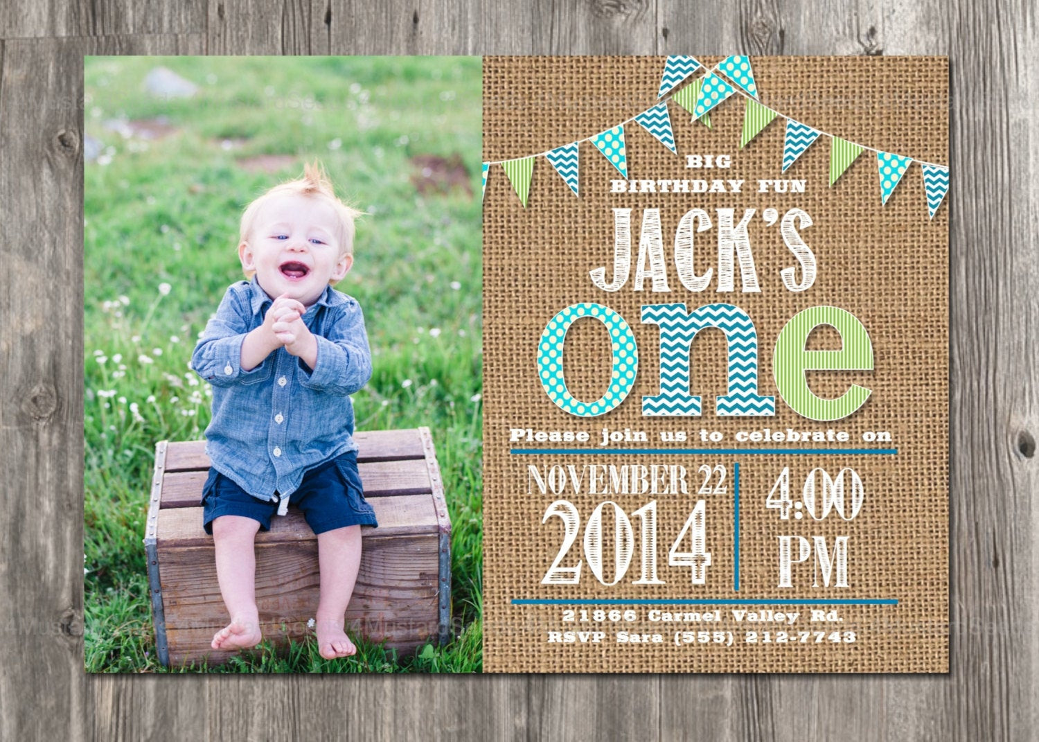 Best ideas about First Birthday Invitations Boy . Save or Pin First Birthday Invitation Boy s 1st Party Invite by Now.