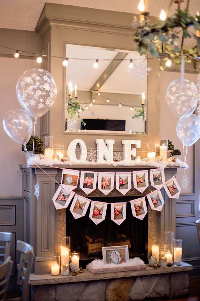 Best ideas about First Birthday Party Decor . Save or Pin Kara s Party Ideas Winter ONEderland First Birthday Party Now.