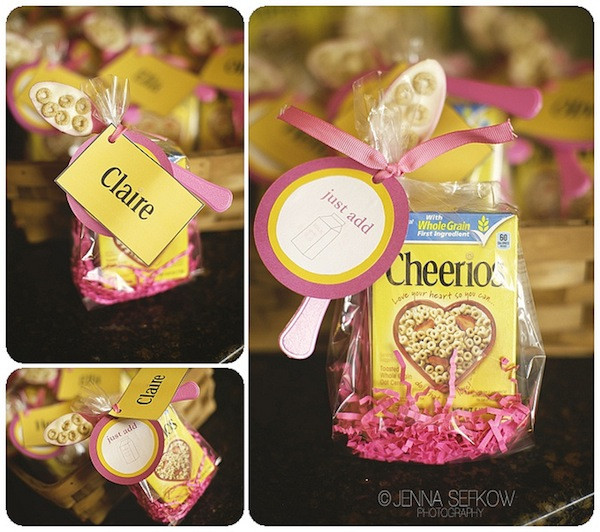 Best ideas about First Birthday Party Favors . Save or Pin Kara s Party Ideas Pink Cheerios Girl 1st Birthday Party Now.