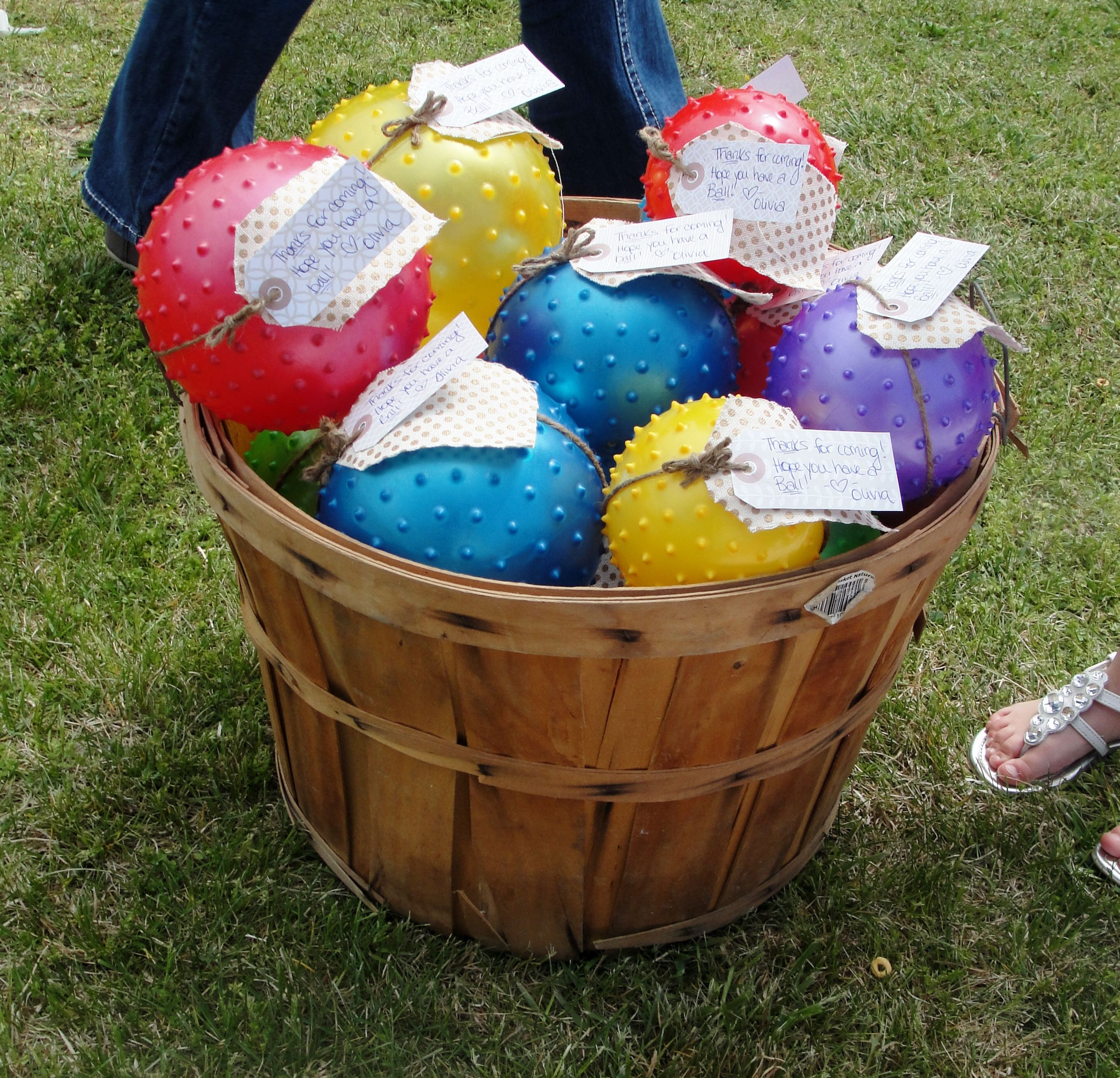 Best ideas about First Birthday Party Favors . Save or Pin Party favors for first birthday party Sensory balls Now.