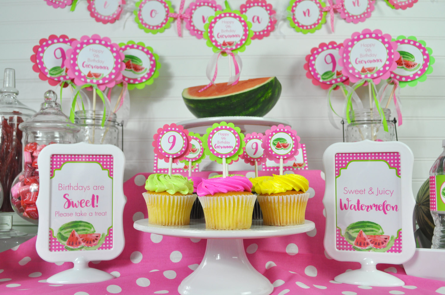 Best ideas about First Birthday Party Favors . Save or Pin Watermelon Party Favor Stickers Thank You Stickers Now.