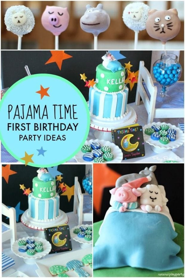 Best ideas about First Birthday Party Themes Boys . Save or Pin A Pajama Time Boy s 1st Birthday Party Now.