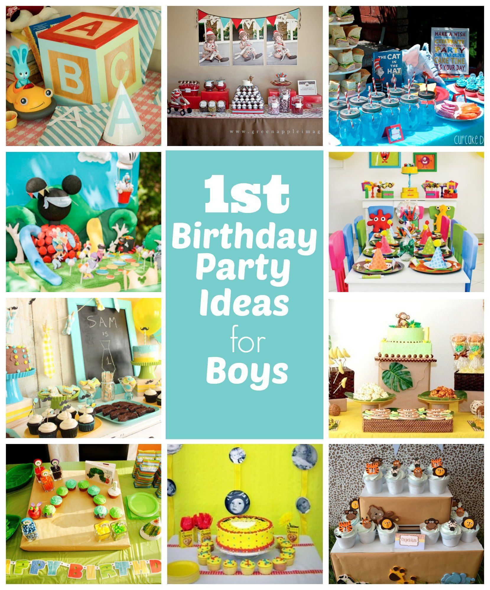 Best ideas about First Birthday Party Themes Boys . Save or Pin 1st Birthday Party Ideas for Boys Great ideas including Now.