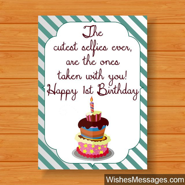 Best ideas about First Birthday Quotes . Save or Pin 1st Birthday Wishes First Birthday Quotes and Messages Now.