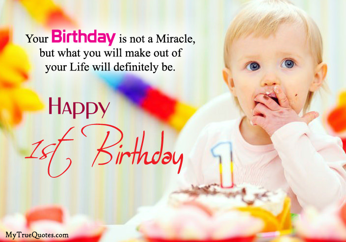 Best ideas about First Birthday Quotes . Save or Pin Happy 1st Birthday Quotes For New Born Baby Girl And baby Boy Now.