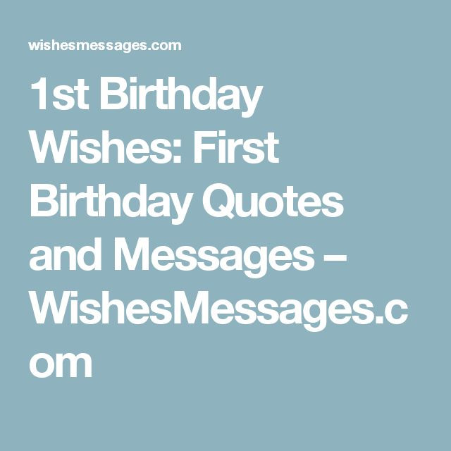 Best ideas about First Birthday Quotes . Save or Pin Best 25 First birthday wishes ideas on Pinterest Now.