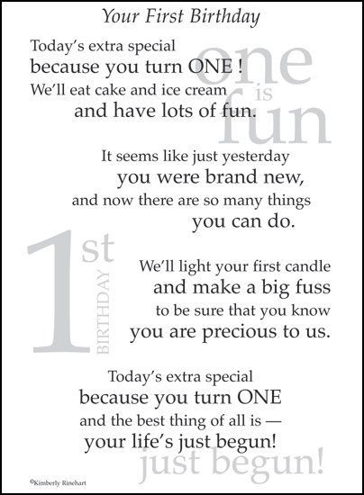 Best ideas about First Birthday Quotes . Save or Pin The is a 1st Birthday page poem It s the perfect addition Now.