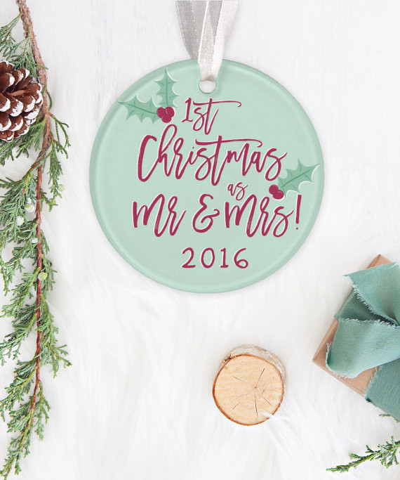 Best ideas about First Christmas Together Gift Ideas . Save or Pin 15 First Christmas To her Ornaments 2016 Etsy Gift Now.