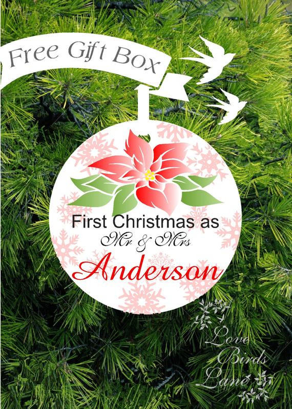 Best ideas about First Christmas Together Gift Ideas . Save or Pin First Christmas Ornament Married Personalized Wedding Gift Our Now.