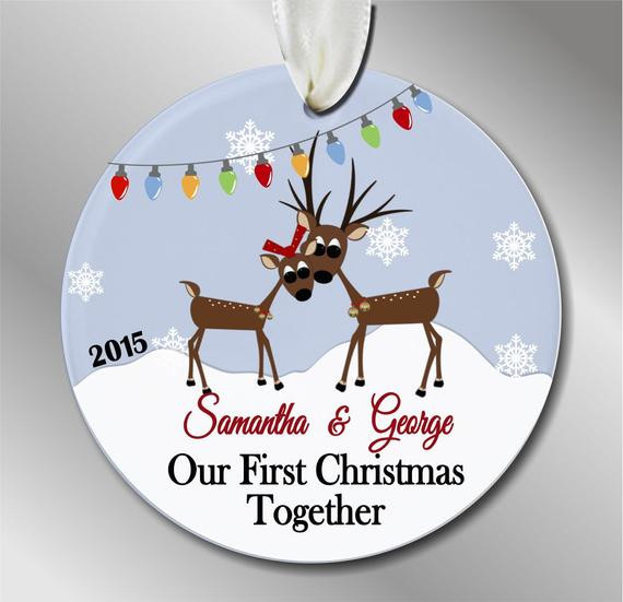Best ideas about First Christmas Together Gift Ideas . Save or Pin Our First Christmas To her Ornament by eofakindalways Now.