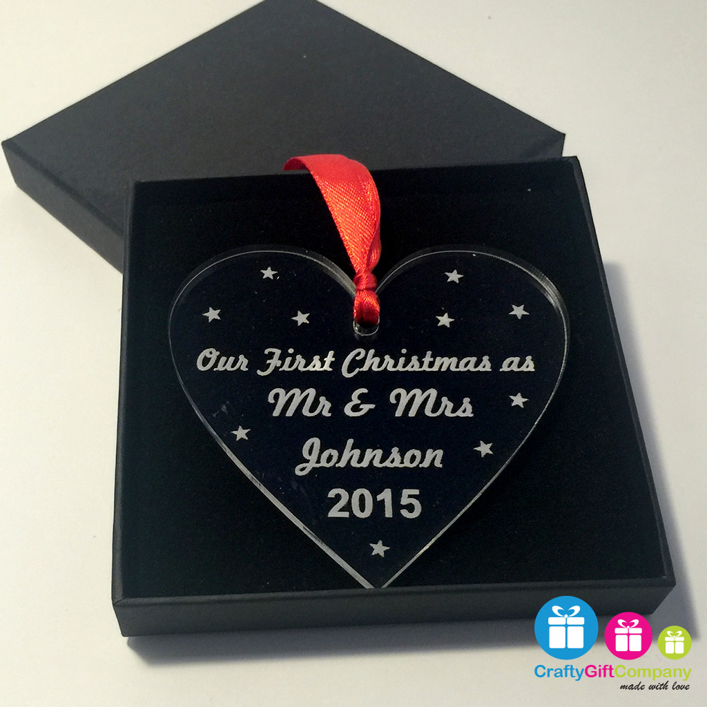 Best ideas about First Christmas Together Gift Ideas . Save or Pin Personalised First Christmas To her Heart Xmas Tree Now.