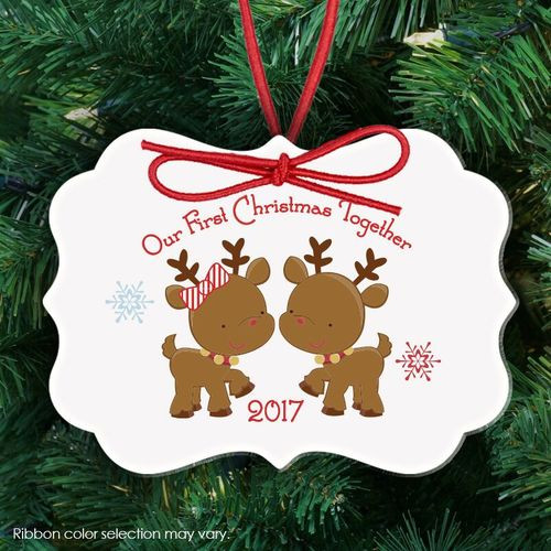Best ideas about First Christmas Together Gift Ideas . Save or Pin Christmas ornament newlywed 1st Christmas personalized Now.