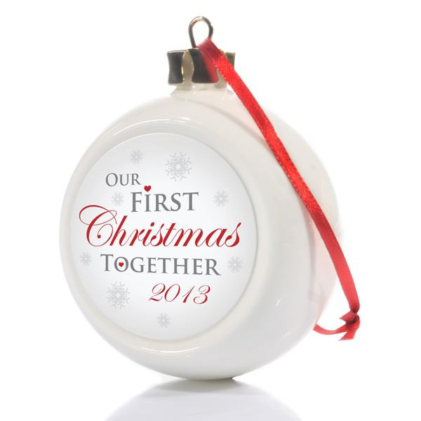 Best ideas about First Christmas Together Gift Ideas . Save or Pin Our First Christmas To her Bauble Now.