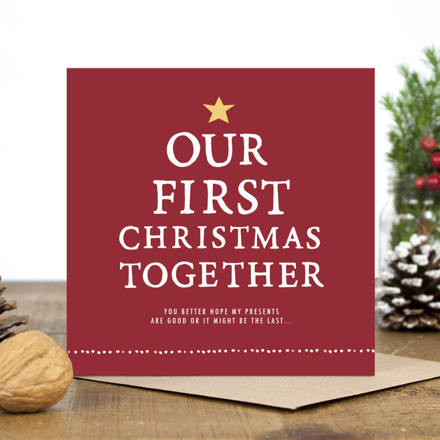 Best ideas about First Christmas Together Gift Ideas . Save or Pin our first christmas to her christmas card by zoe Now.