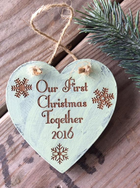 Best ideas about First Christmas Together Gift Ideas . Save or Pin Our First Christmas To her Ornament Newly Wed Ornament Now.