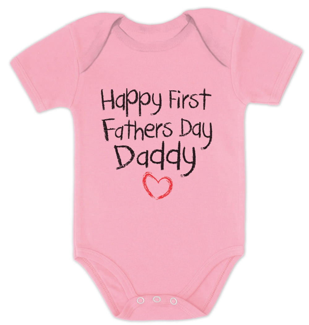 Best ideas about First Father'S Day Gift Ideas From Baby . Save or Pin Happy First Father s Day Baby esie Baby shower t idea Now.