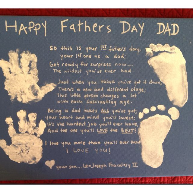 Best ideas about First Time Dad Fathers Day Gift Ideas . Save or Pin Look what Leo made for daddy s 1st fathers day Now.