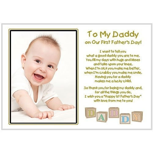 Best ideas about First Time Dad Fathers Day Gift Ideas . Save or Pin New Dad To My Daddy Our First Father s Day Touching Now.