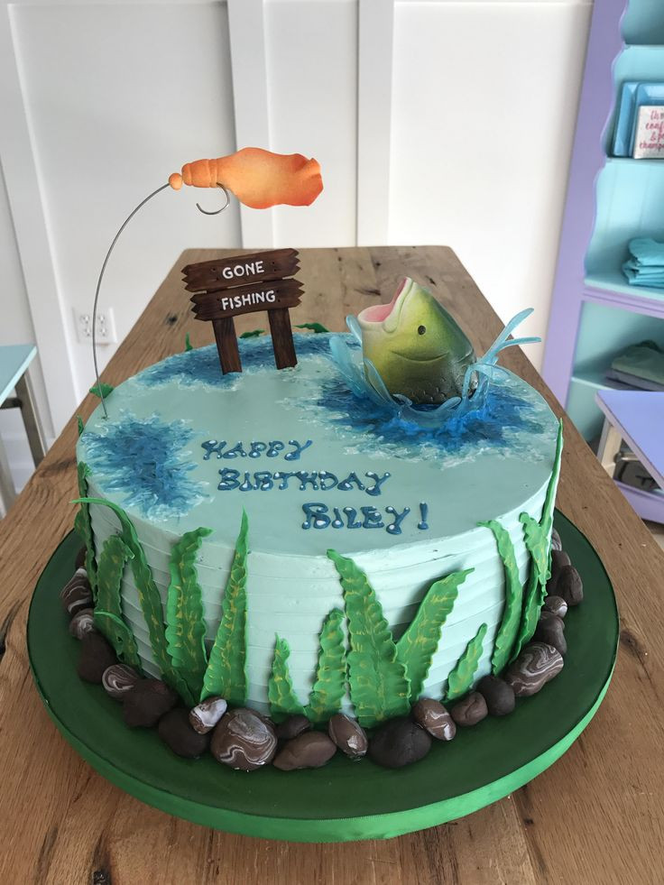 Best ideas about Fishing Birthday Cake . Save or Pin Best 25 Gone fishing cake ideas on Pinterest Now.