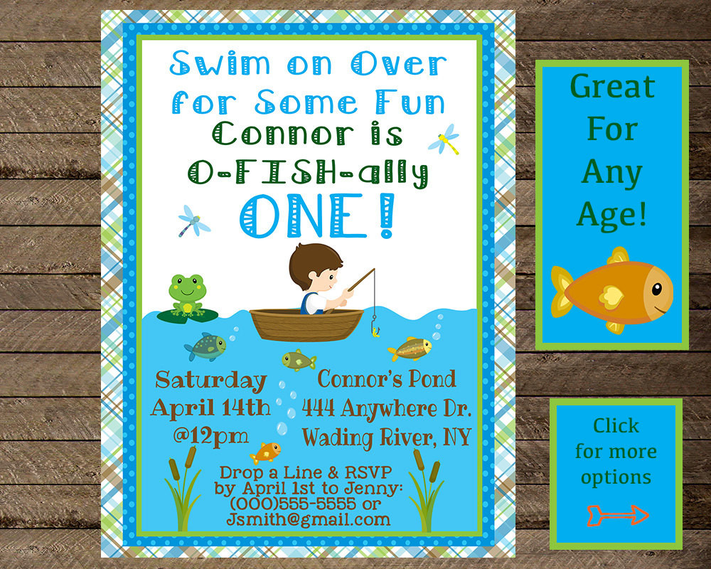 Best ideas about Fishing Birthday Invitations . Save or Pin Boy s birthday fishing invite fishing invitation fishing Now.