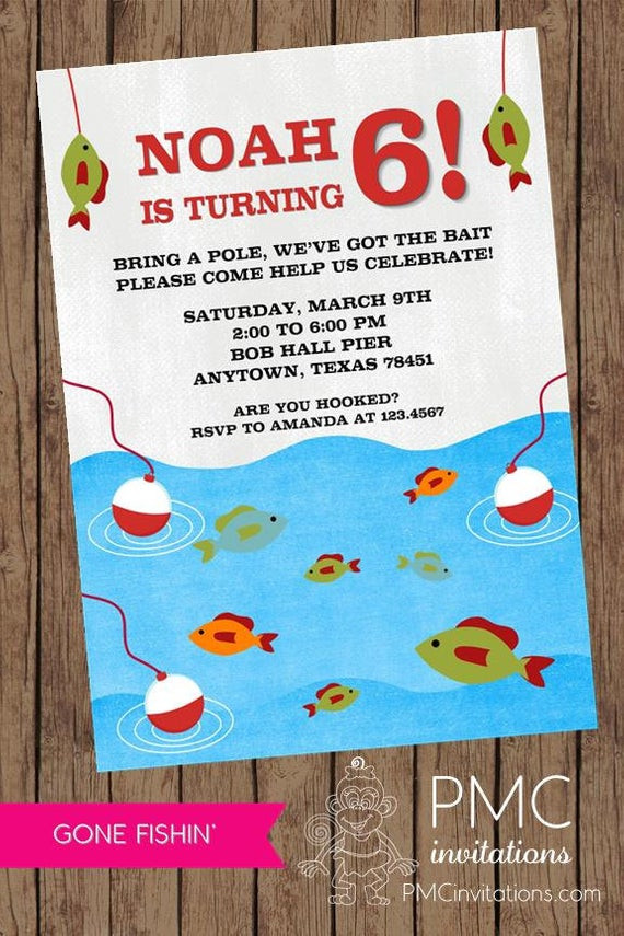 Best ideas about Fishing Birthday Invitations . Save or Pin Gone Fishing Birthday Invitations 1 00 each with envelope Now.