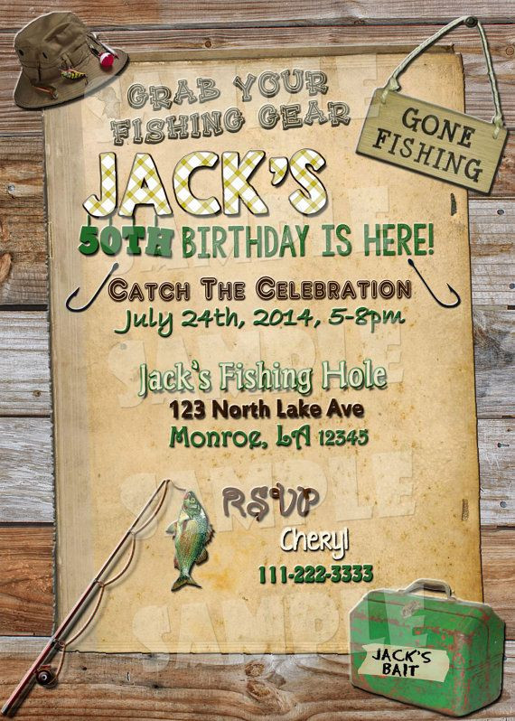 Best ideas about Fishing Birthday Invitations . Save or Pin Printable FISHING BIRTHDAY INVITATION by Now.