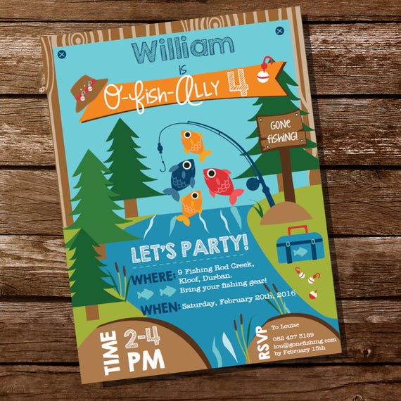 Best ideas about Fishing Birthday Invitations . Save or Pin Fishing Invitation Fishing Invite Gone Fishing Party Now.