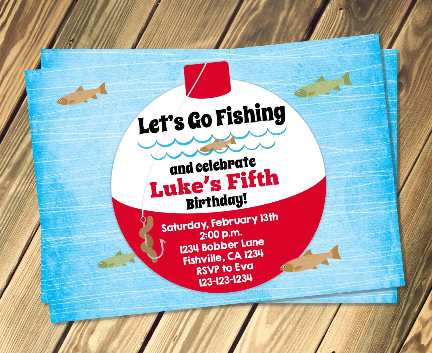 Best ideas about Fishing Birthday Invitations . Save or Pin Fishing Bobber Birthday Invitation Print Your Own Now.