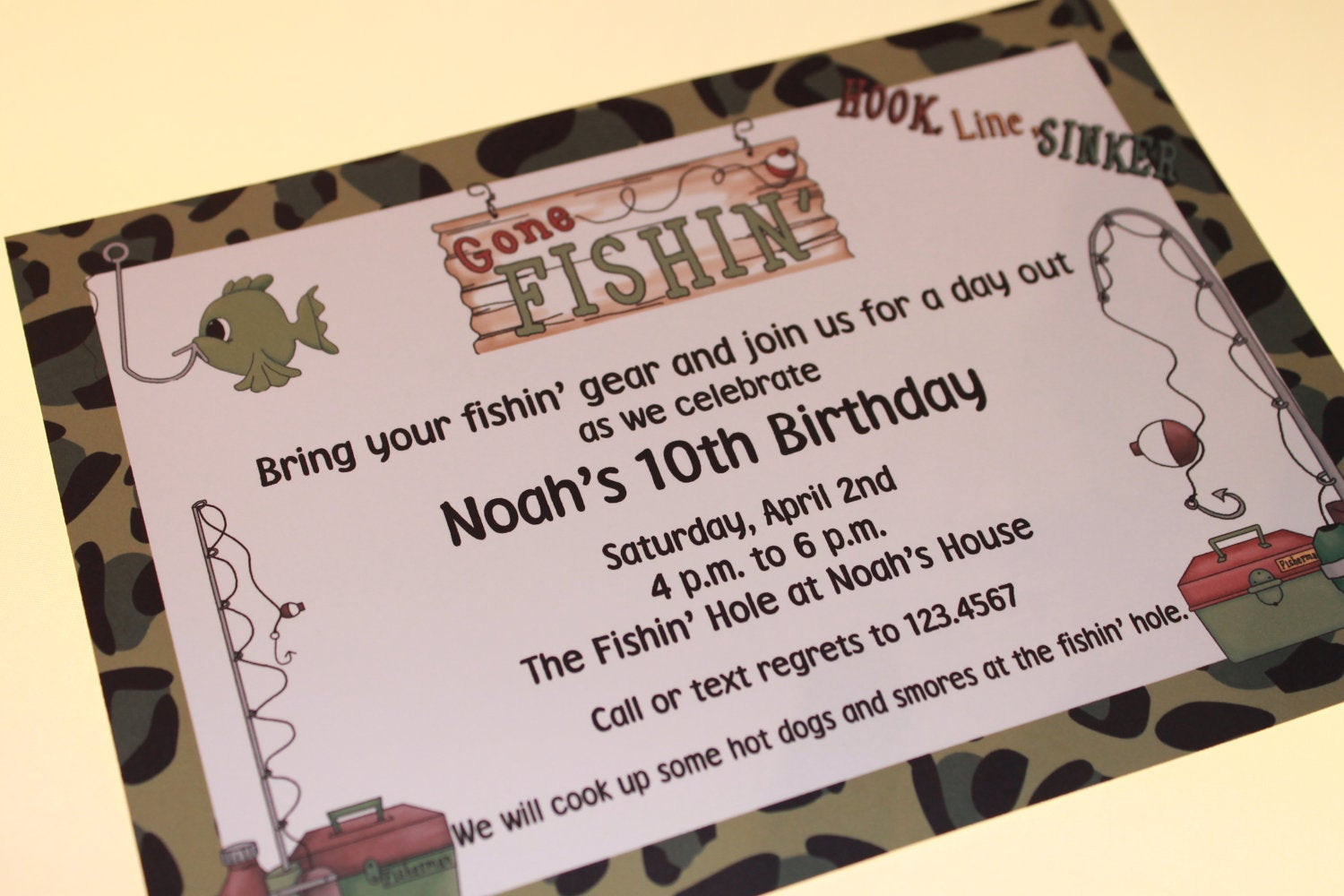 Best ideas about Fishing Birthday Invitations . Save or Pin Fishing Birthday Invitations Now.