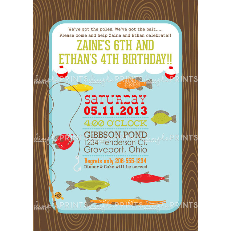 Best ideas about Fishing Birthday Invitations . Save or Pin Fishing Printable Birthday Party Invitation Dimple Now.