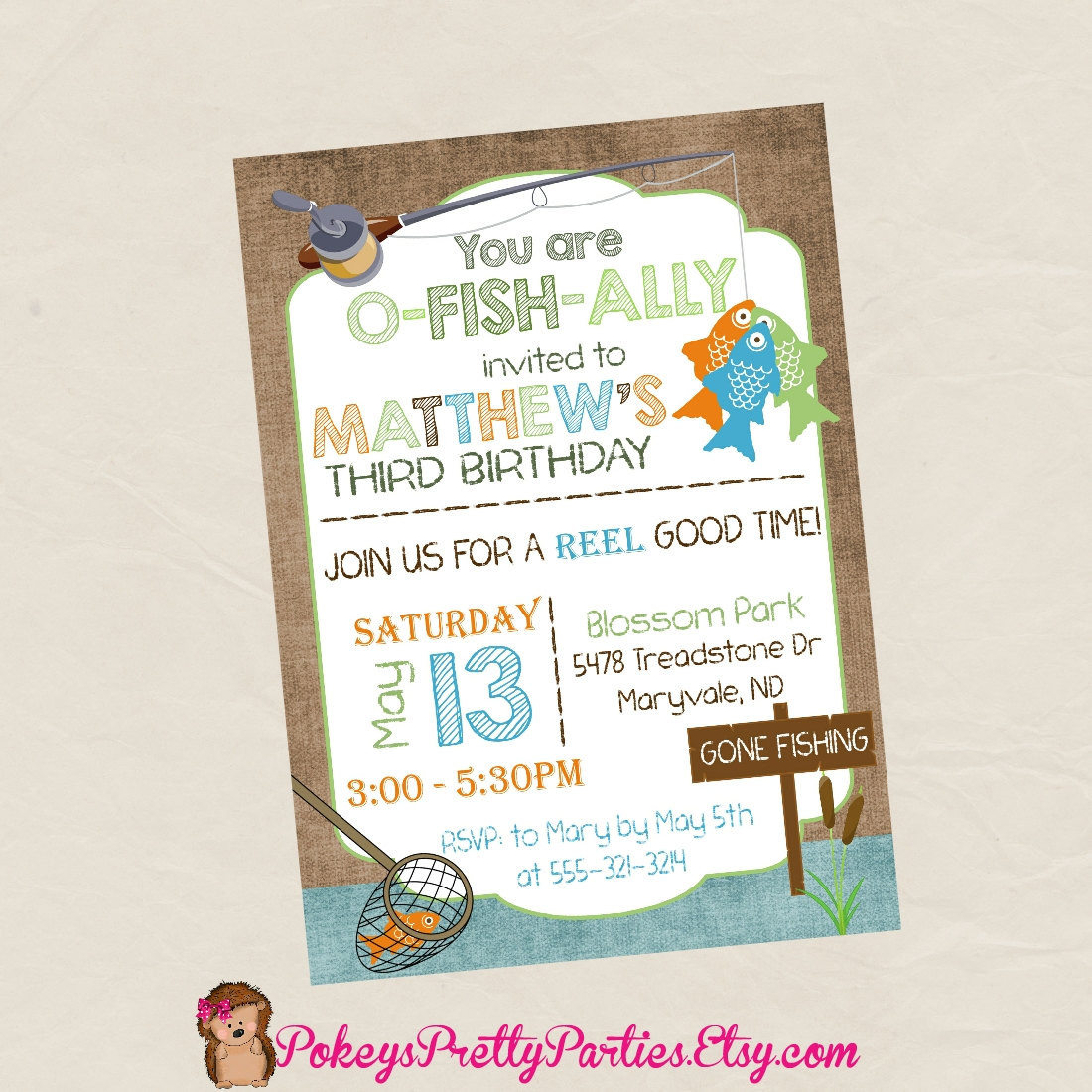 Best ideas about Fishing Birthday Invitations . Save or Pin FISHING Birthday Party Invitation Invite Digital or Printed Now.