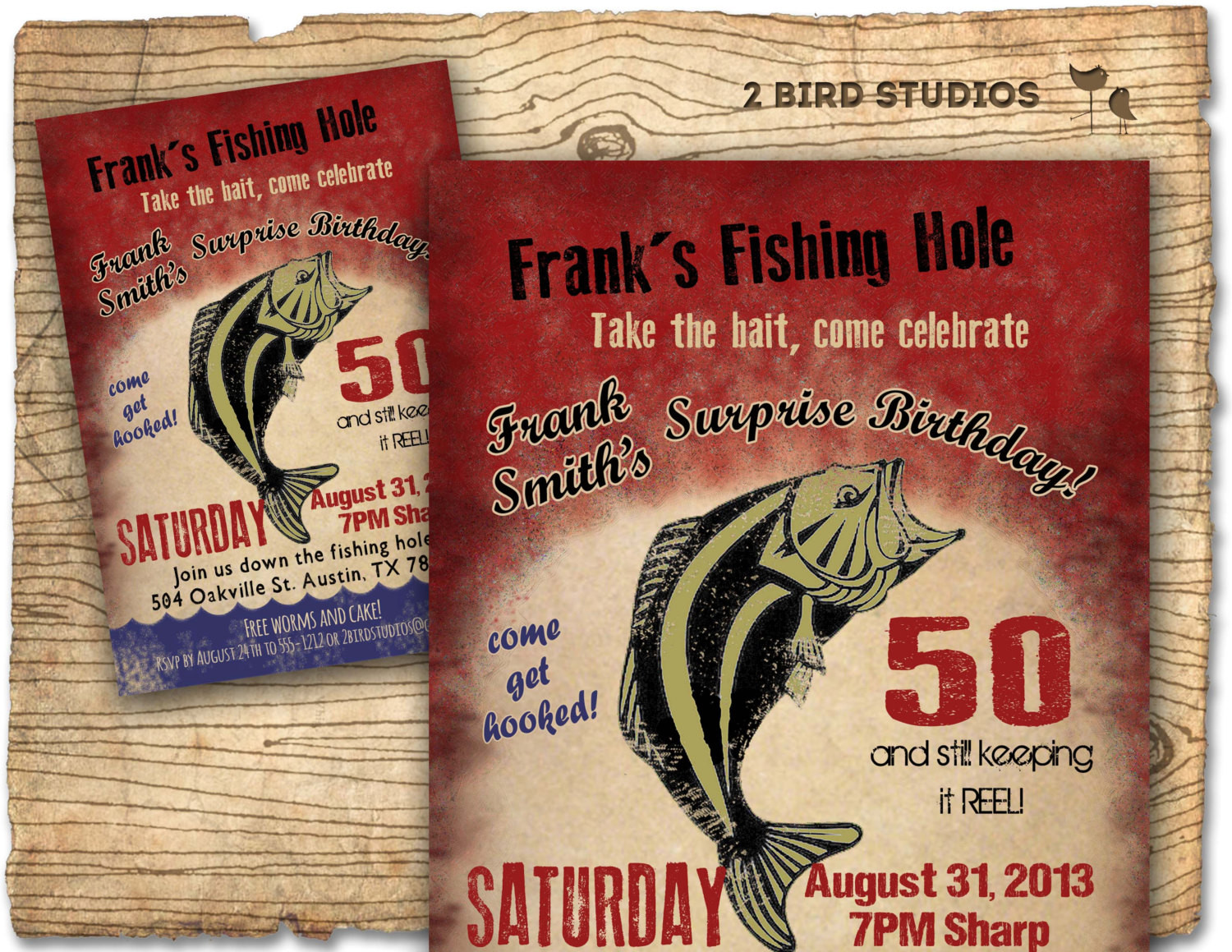 Best ideas about Fishing Birthday Invitations . Save or Pin Fishing Birthday Party Invitation invite 30th 40th 50th Now.