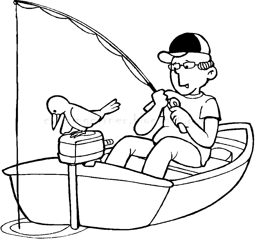 Best ideas about Fishing Printable Coloring Pages . Save or Pin Boat Coloring Pages Now.