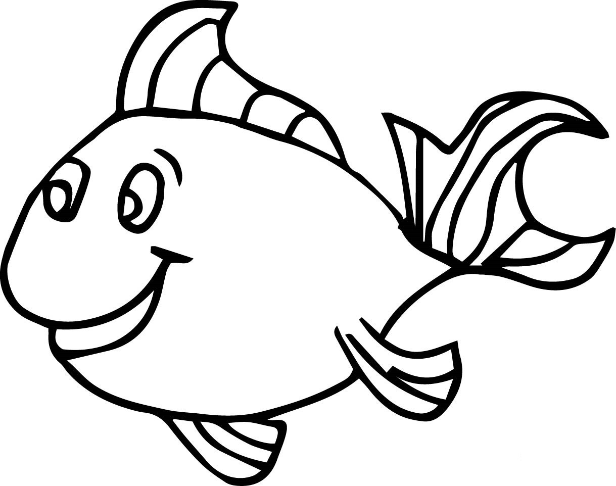 Best ideas about Fishing Printable Coloring Pages . Save or Pin Fish Drawing For Colouring at GetDrawings Now.