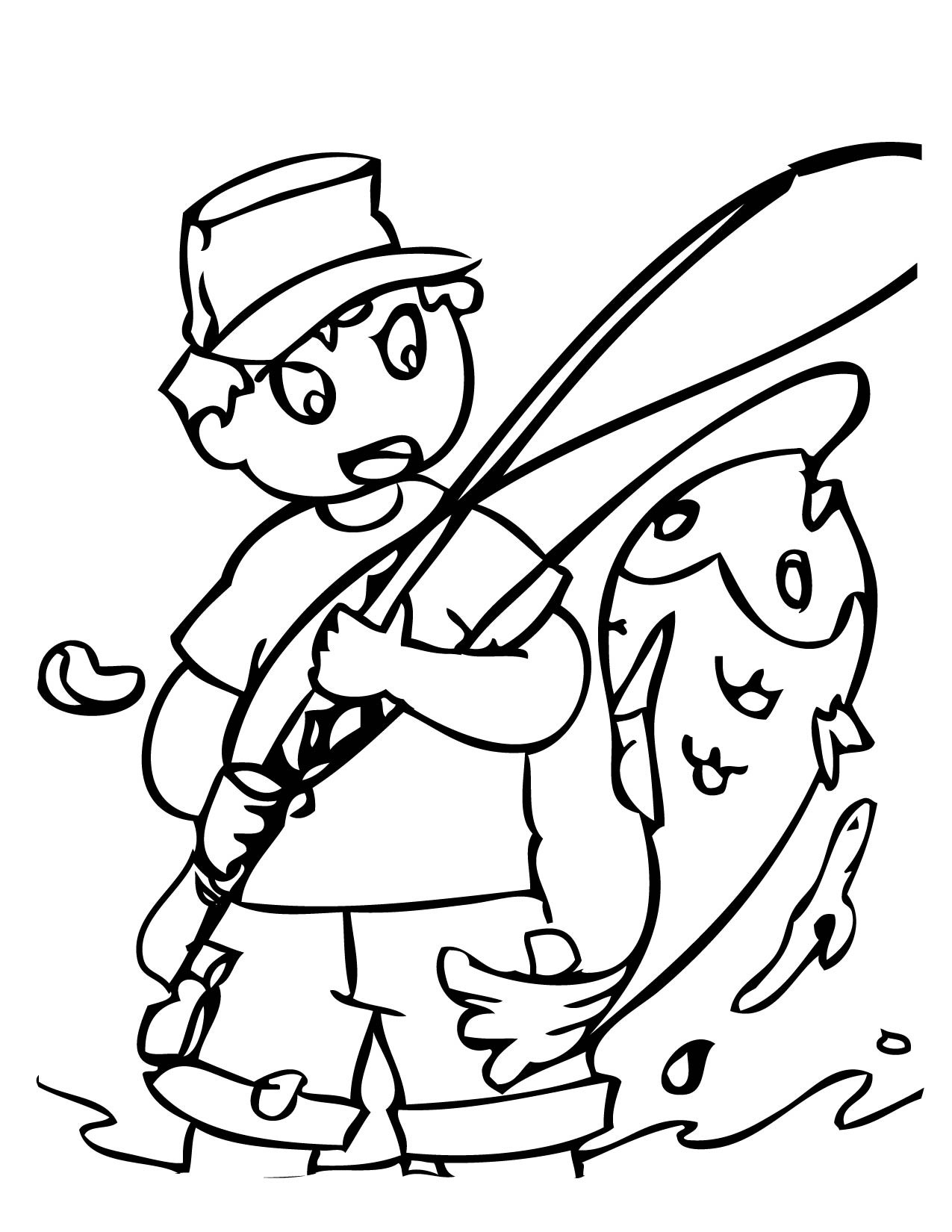 Best ideas about Fishing Printable Coloring Pages . Save or Pin Printable Fishing Now.