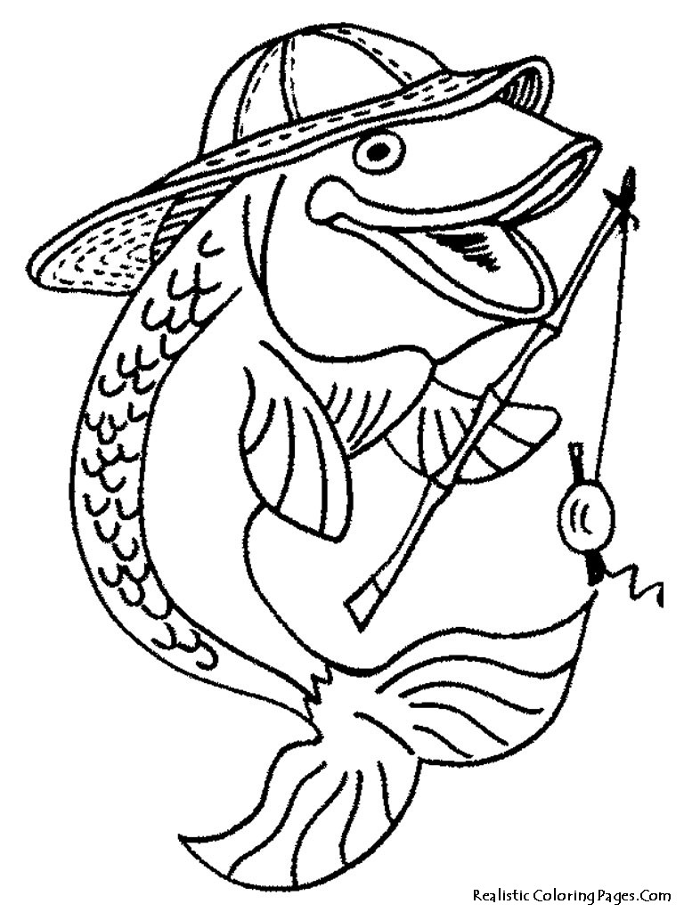 Best ideas about Fishing Printable Coloring Pages . Save or Pin Realistic Fish Coloring Pages Now.
