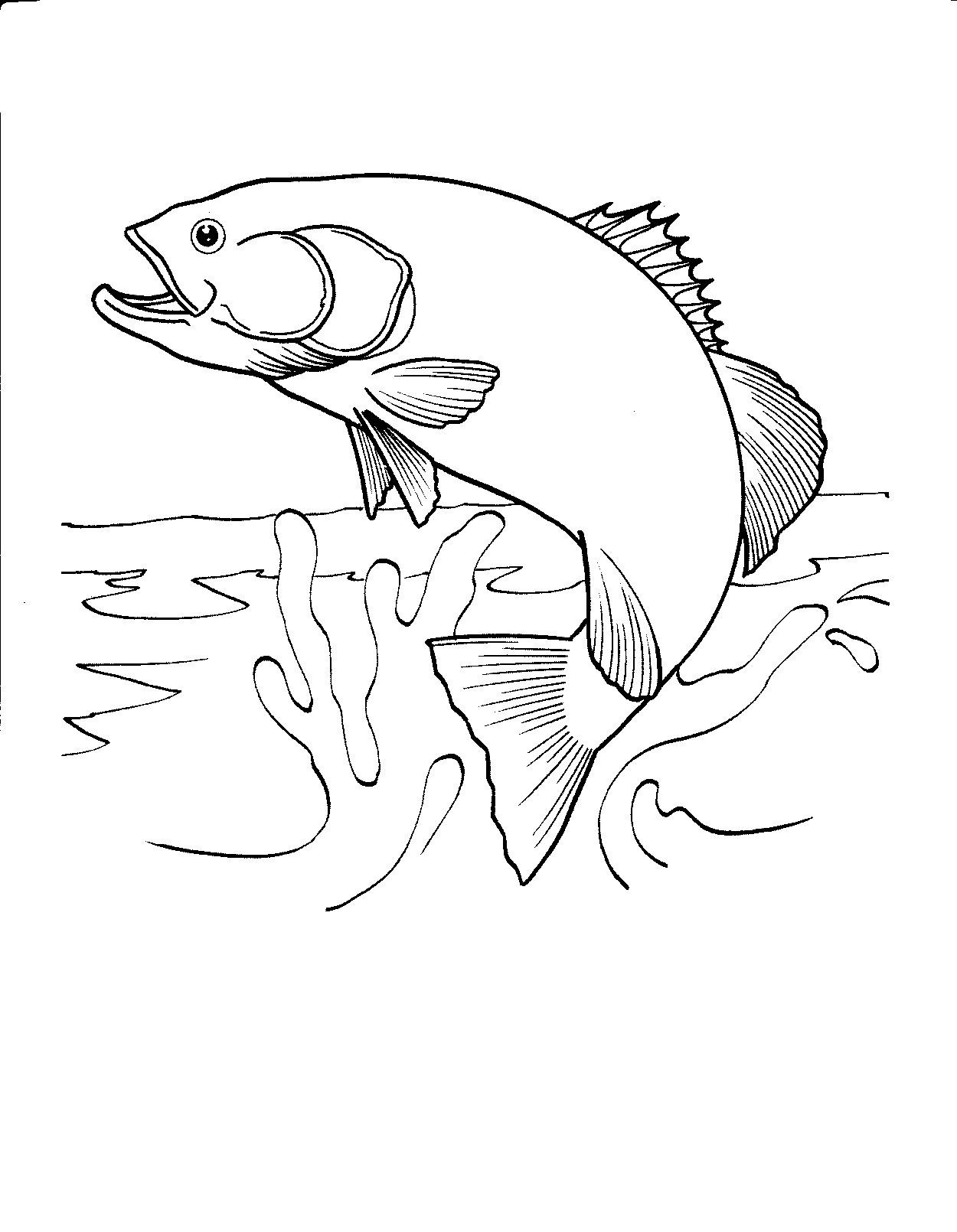 Best ideas about Fishing Printable Coloring Pages . Save or Pin Printable Fish Coloring Pages Now.