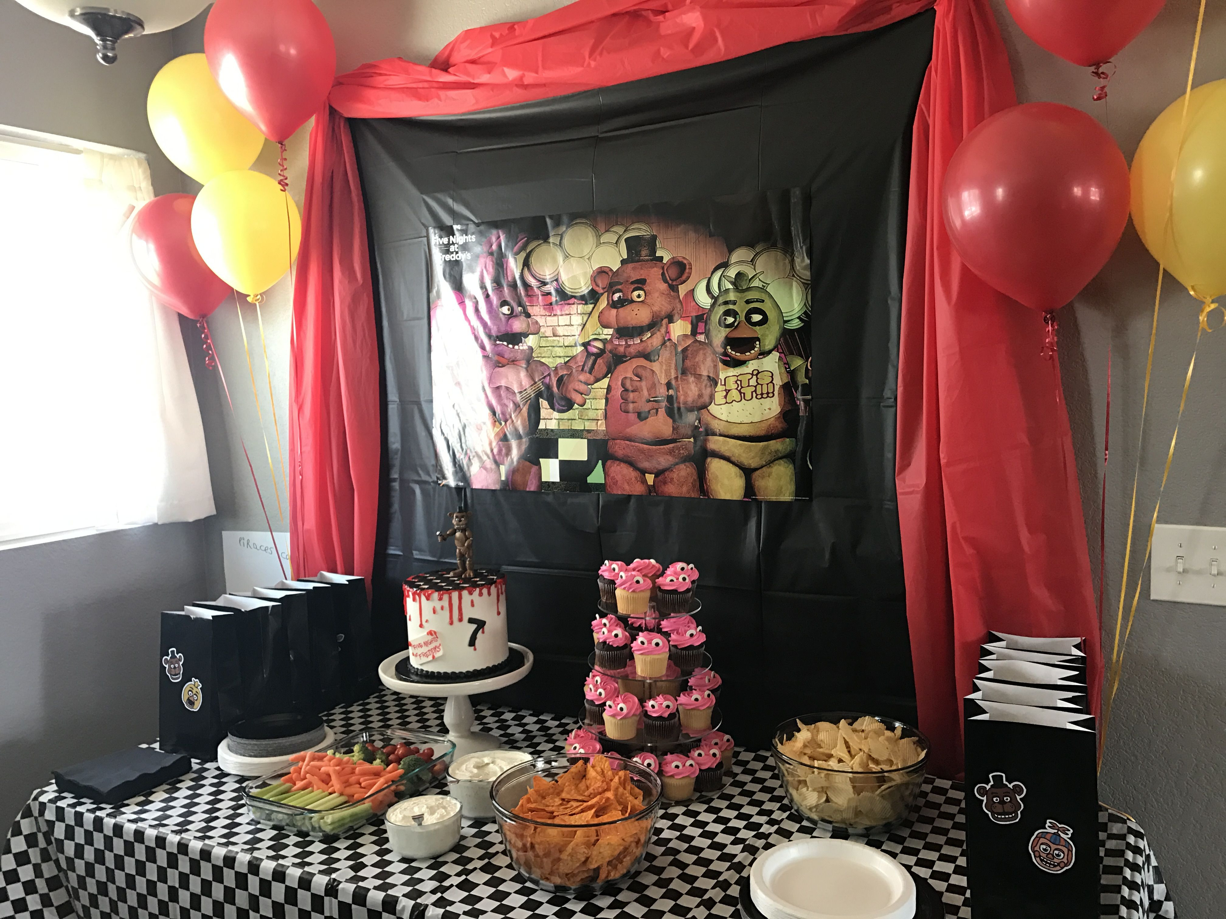 Best ideas about Five Nights At Freddy's Birthday Party Decorations . Save or Pin Five Nights at Freddy s Birthday FNAF Birthday Now.