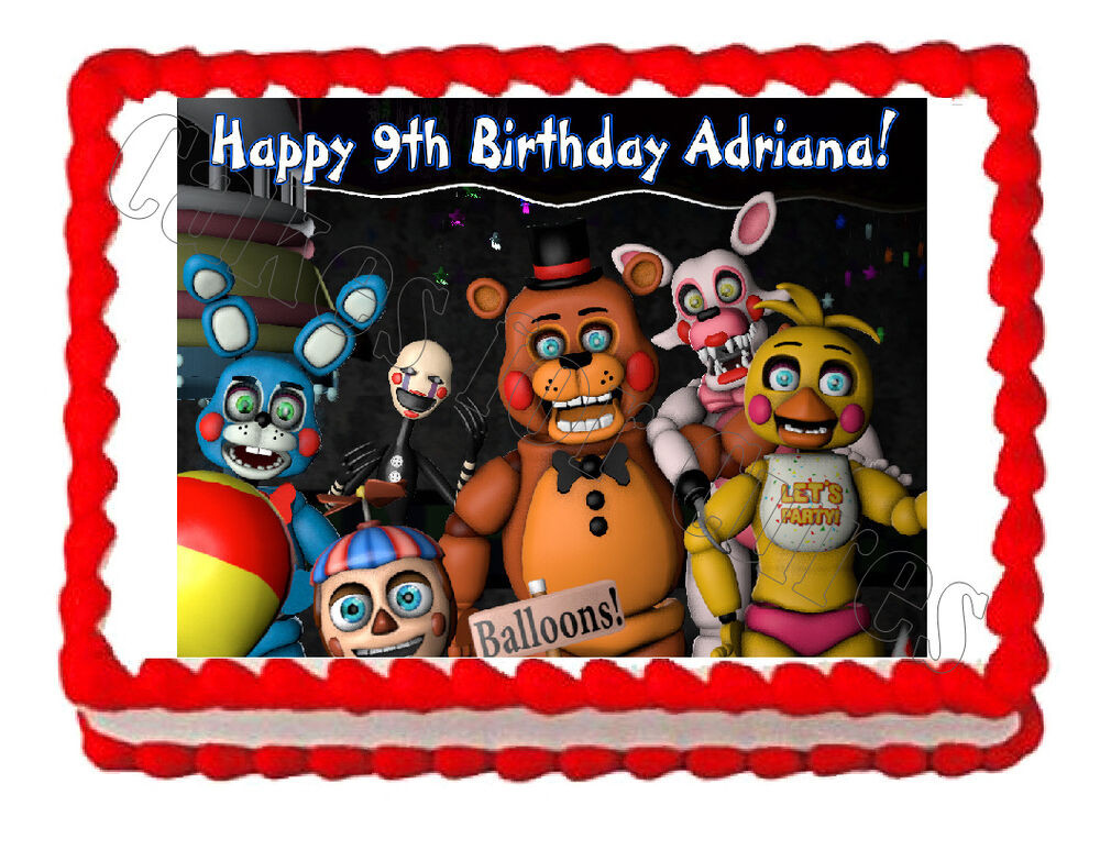 Best ideas about Five Nights At Freddy's Birthday Party Decorations . Save or Pin Five nights at Freddy s FNaF 3 party edible image cake Now.