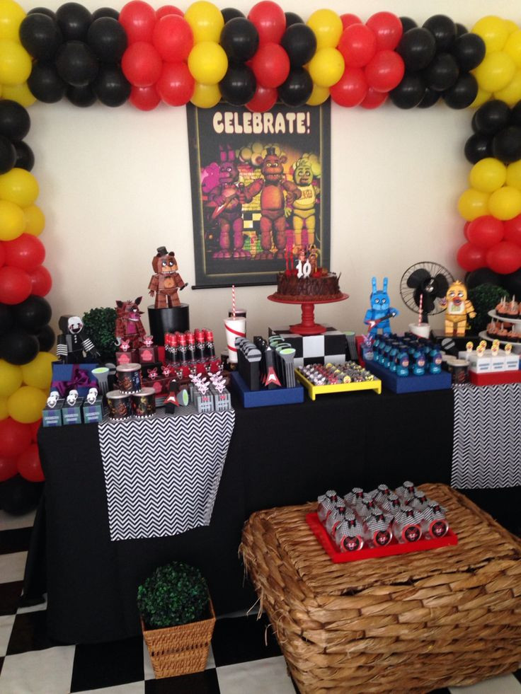 Best ideas about Five Nights At Freddy's Birthday Party Decorations . Save or Pin FNAF BIRTHDAY PARTY FNAF BIRTHDAY PARTY Now.