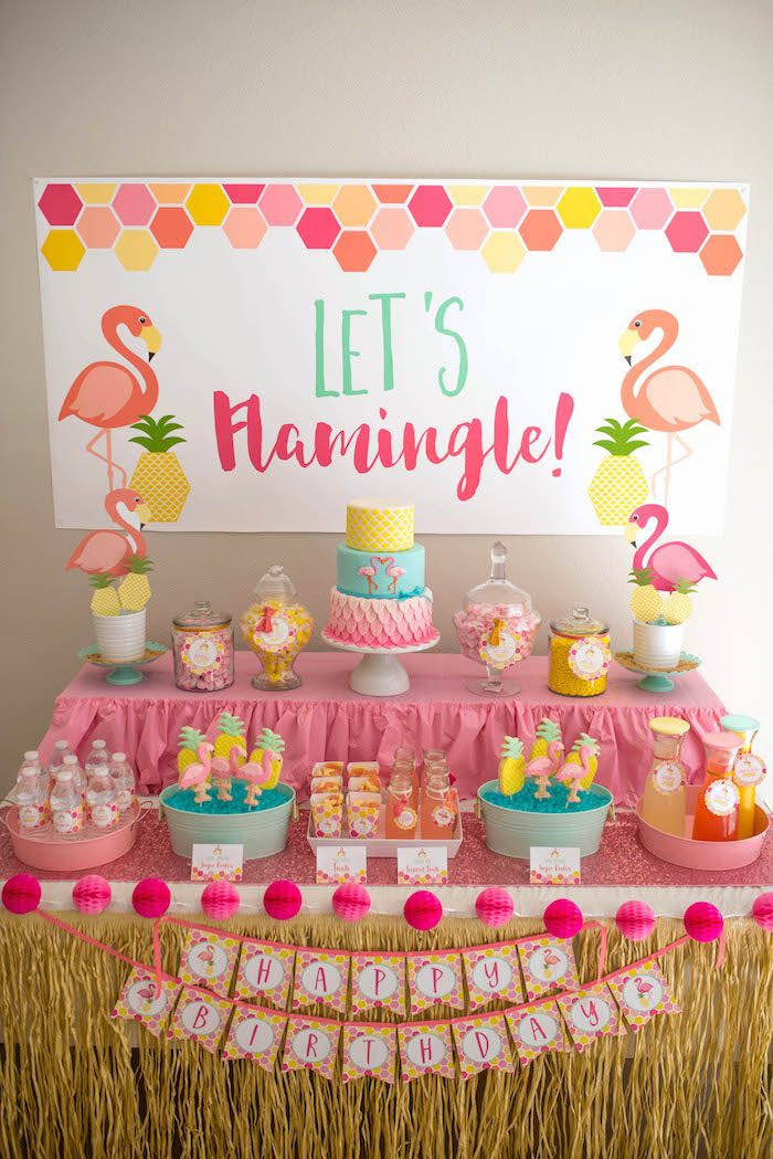 Best ideas about Flamingo Birthday Party . Save or Pin Kara s Party Ideas Flamingo Flamingle Pineapple Party Now.