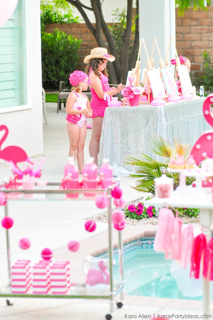 Best ideas about Flamingo Birthday Party . Save or Pin Kara s Party Ideas Flamingo Pool Art Summer Birthday Now.
