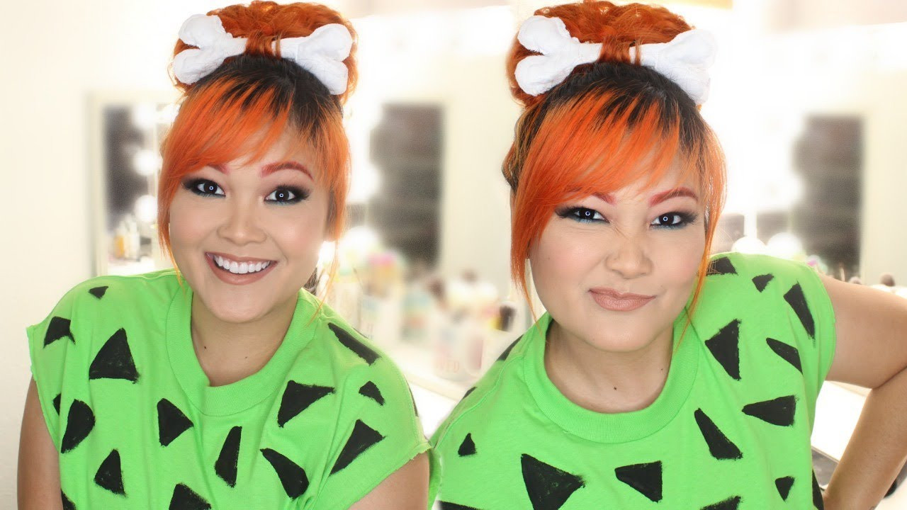 Best ideas about Flintstones Costumes DIY . Save or Pin DIY Pebbles Flintstones Halloween Costume Hair Makeup Now.