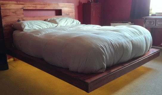 Best ideas about Floating Bed DIY . Save or Pin How To Build A DIY Floating Bed Frame With LED Lighting Now.