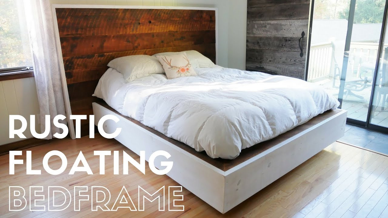 Best ideas about Floating Bed DIY . Save or Pin DIY Rustic Floating Bed Build Now.