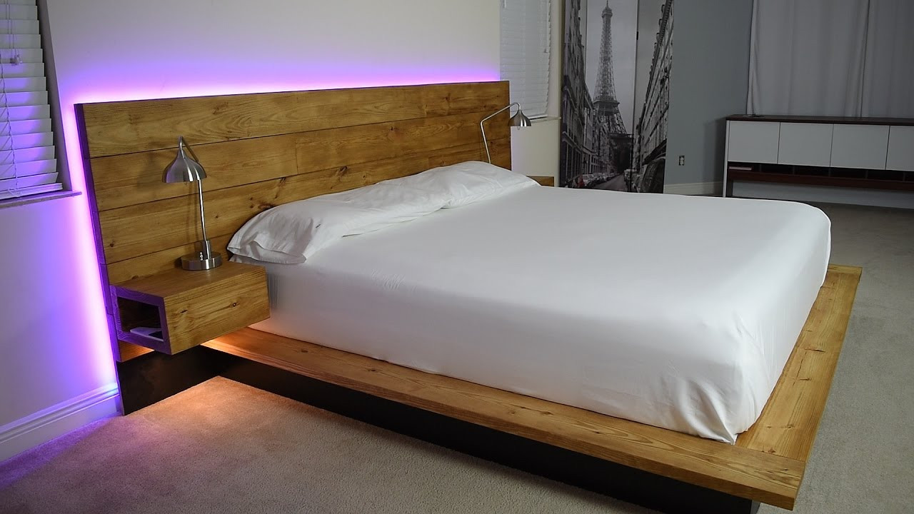 Best ideas about Floating Bed DIY . Save or Pin DIY Platform Bed With Floating Night Stands Plans Now.