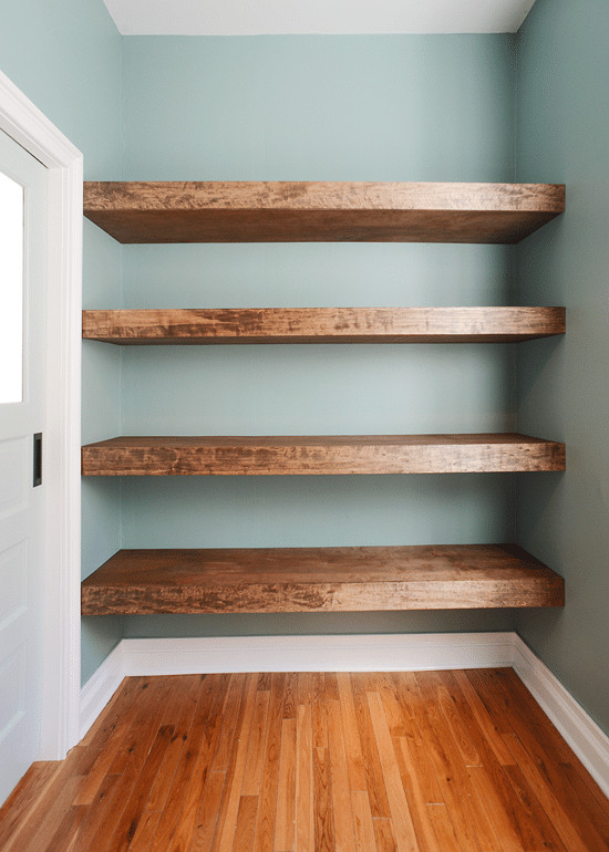 Best ideas about Floating Bookshelves DIY . Save or Pin DIY Floating Wood Shelves Now.