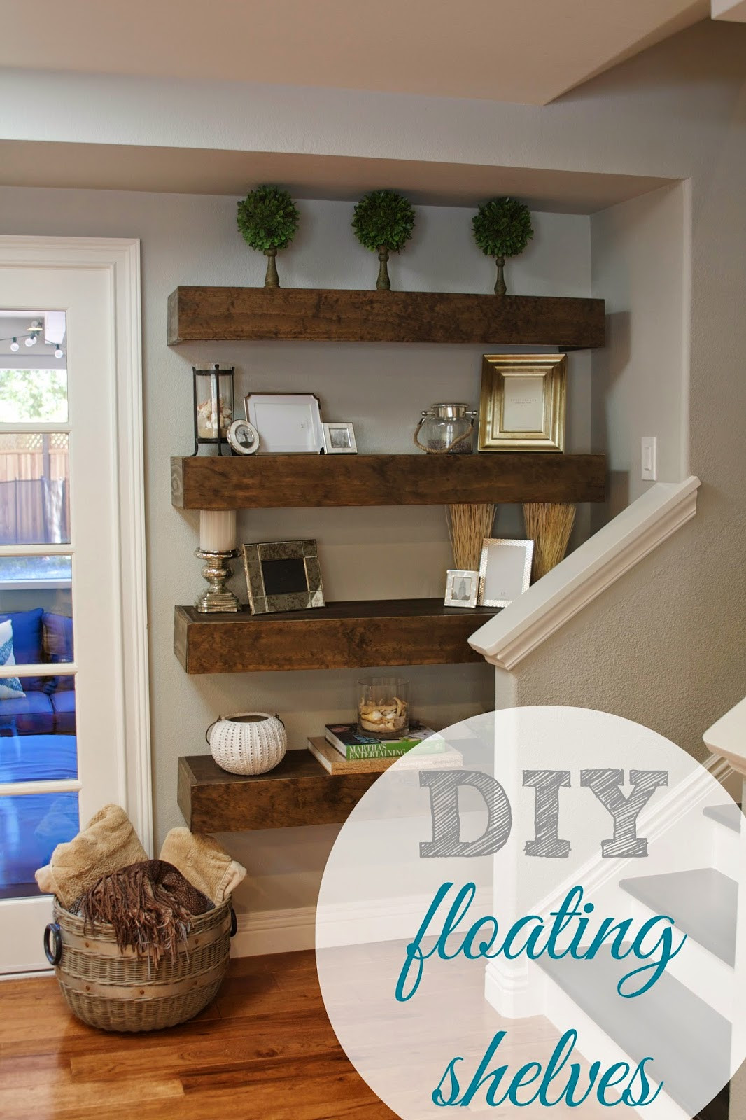 Best ideas about Floating Bookshelves DIY . Save or Pin Day 27 Shelves 31 Cheap & Easy DIY Organizers Now.